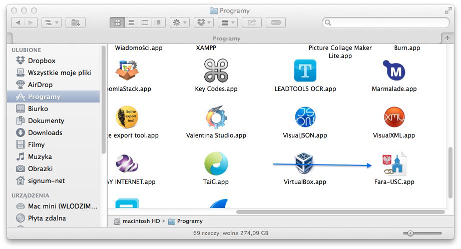 Fara-USC na komputery MAC - ikona programu